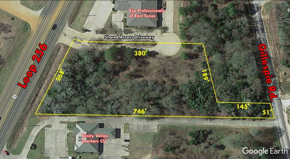 COMMERCIAL LAND ON LOOP 256 IN PALESTINE TX FOR SALE