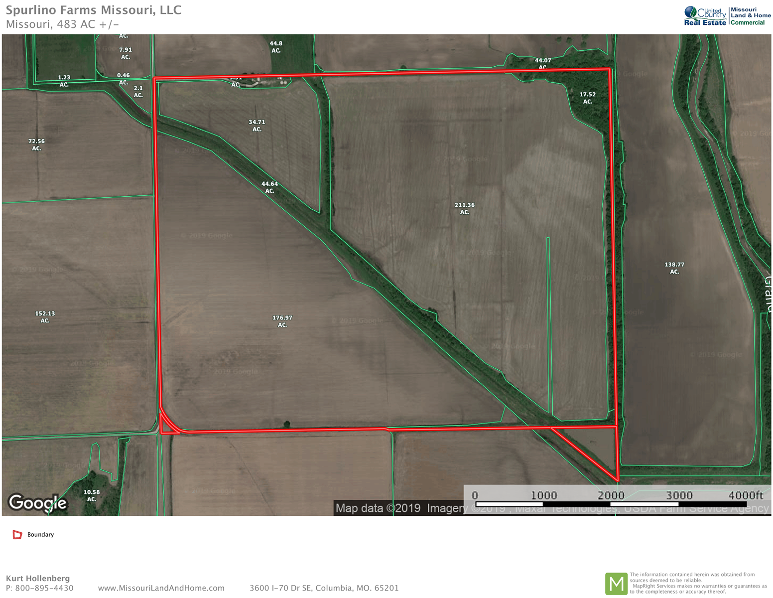 Investment Grade Tillable Row Crop Farm Land Chillicothe MO