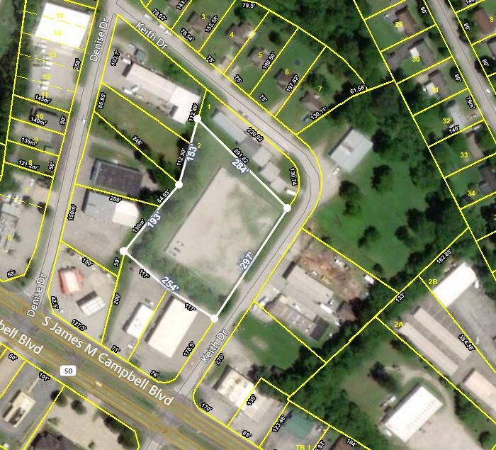 Commercial Lot for Sale in Columbia, Maury County Tennessee