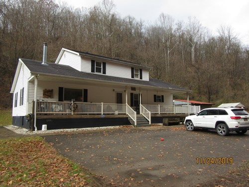 HUNTING & RECREATIONAL LAND WITH HOME FOR SALE IN SALEM, WV