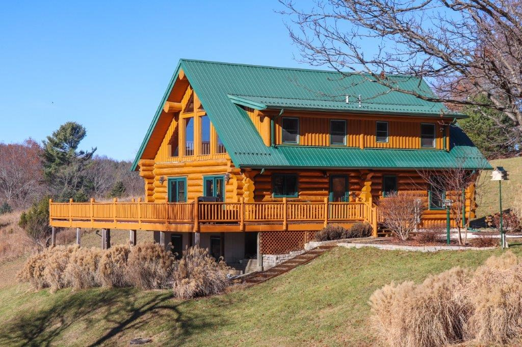 Quality Constructed Log Home & Acreage for Sale in Floyd VA