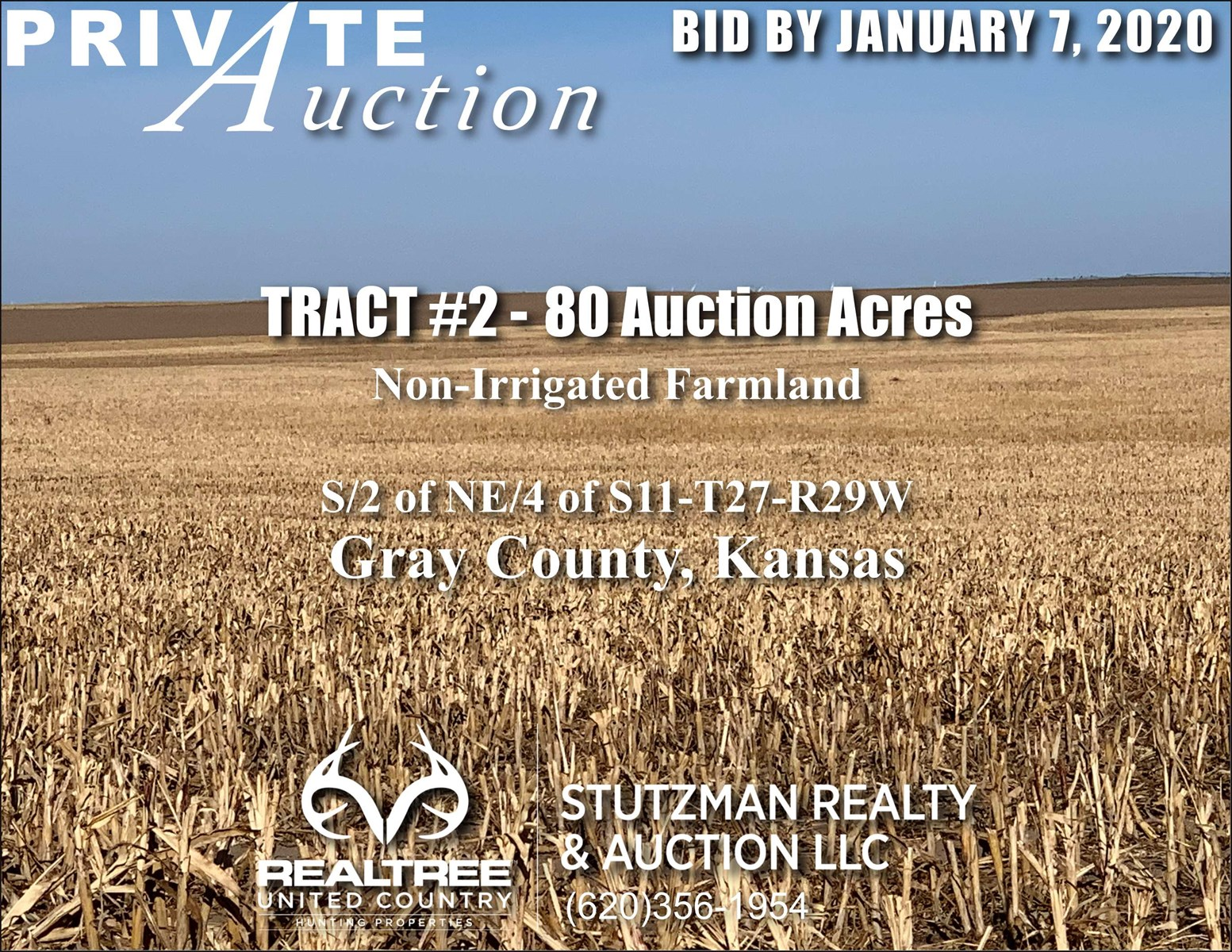 Gray County KS - TR #2 - 80 ACRES NON-IRRIGATED FARMLAND