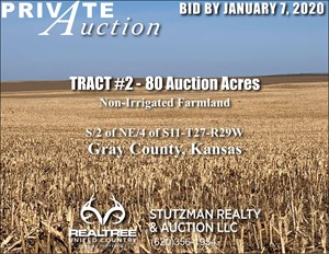 GRAY COUNTY KS - TR #2 - 80 ACRES NON-IRRIGATED FARMLAND