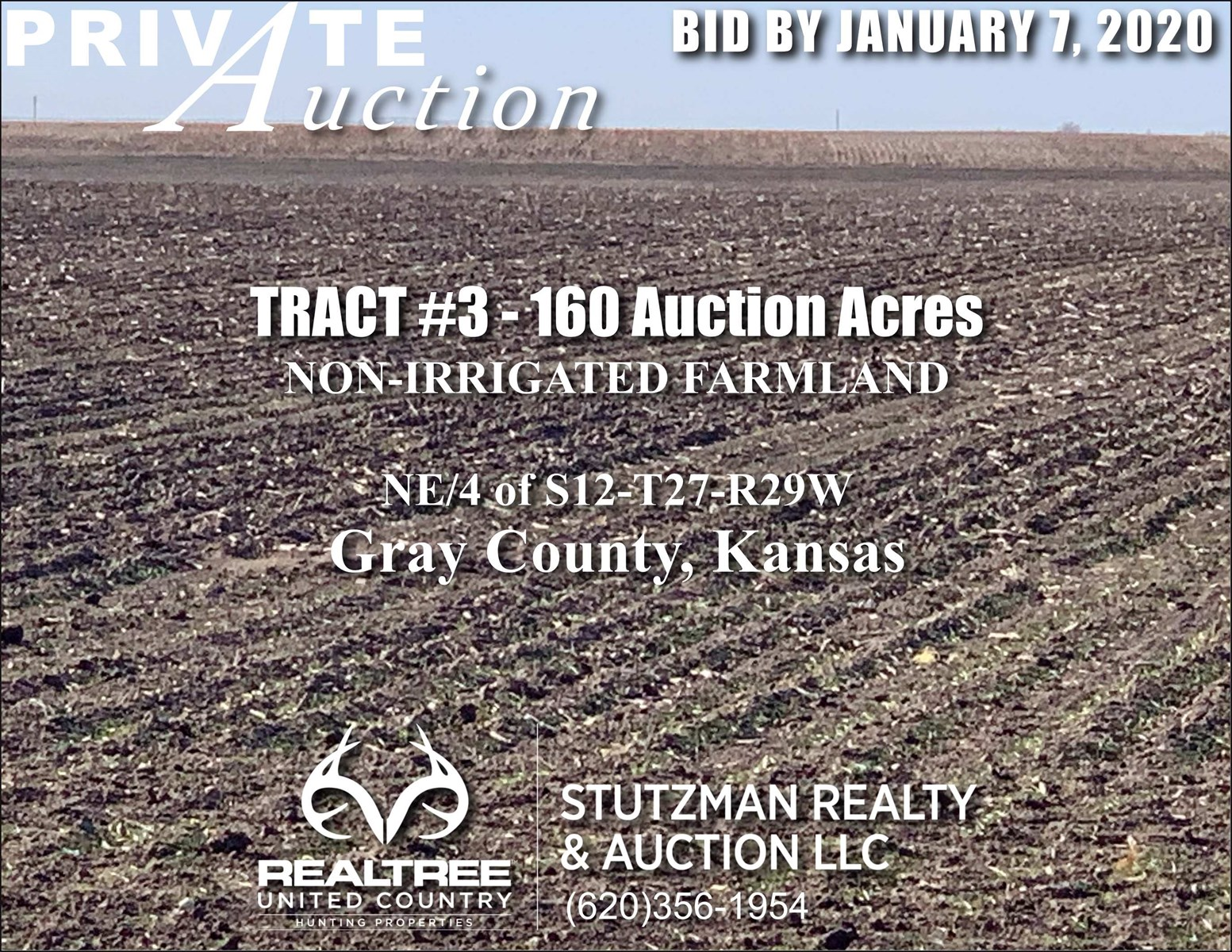 GRAY COUNTY KS - TR #3 - 160 ACRE NON-IRRIGATED FARMLAND