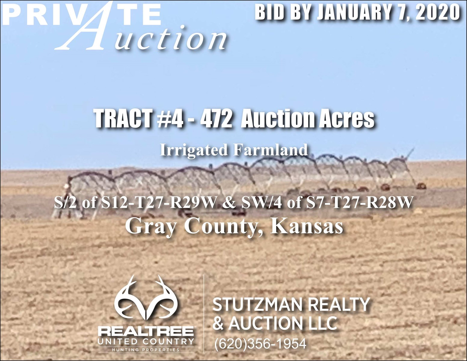 GRAY COUNTY KS - TR #4 - 472 ACRES IRRIGATED FARMLAND