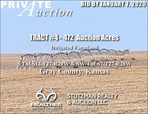 GRAY COUNTY KS - TR #4 - 472 ACRES IRRIGATED FARMLAND