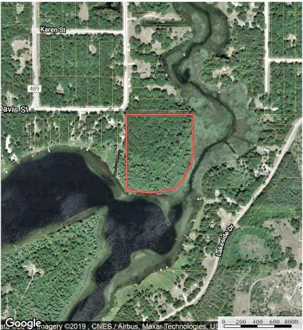 Waterfront Acreage Crooked Lake Atlanta Michigan for Sale
