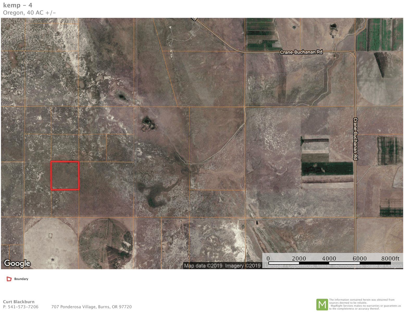 40 ACRES FOR SALE EAST OF BURNS OREGON
