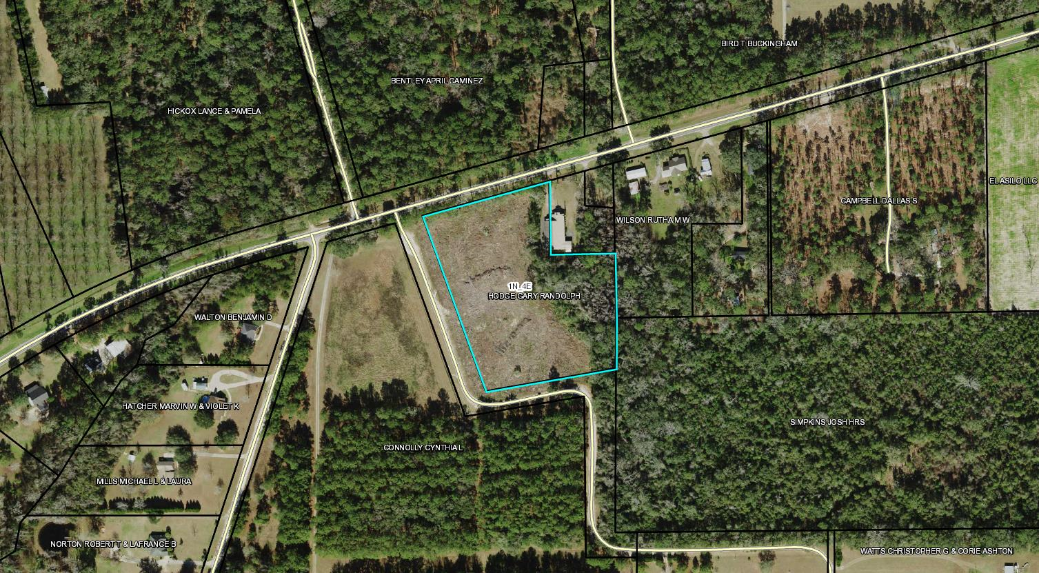 5+ ACRES ON ATTRACTIVE WAUKEENAH HIGHWAY NEAR MONTICELLO.