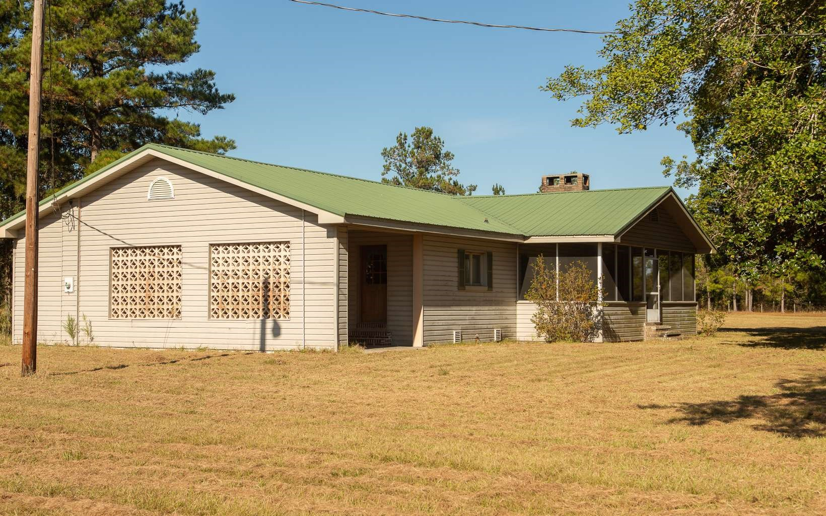 Private home with large tract of acreage