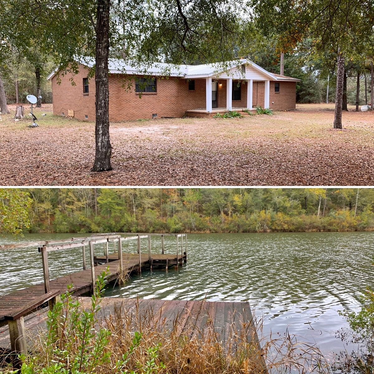 Lake Home on 5 acres For Sale Geneva Alabama Geneva County