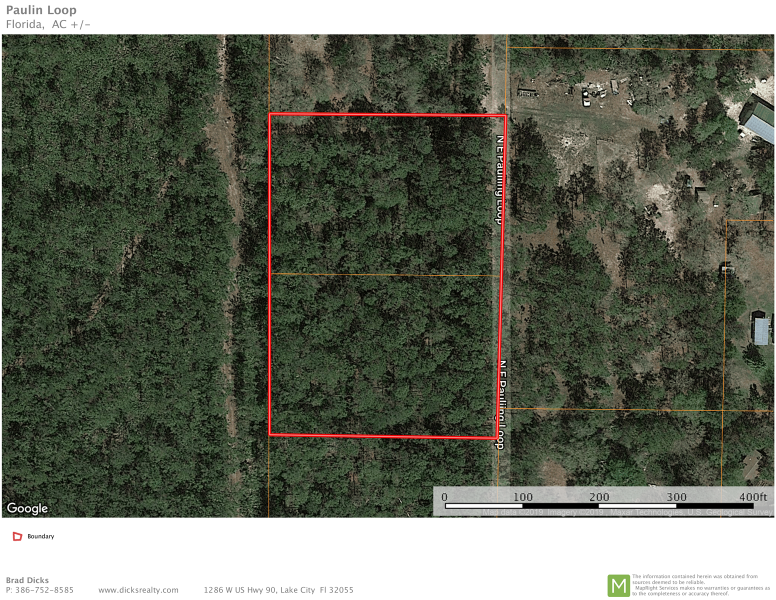 2 Acres For Sale by Osceola Forest