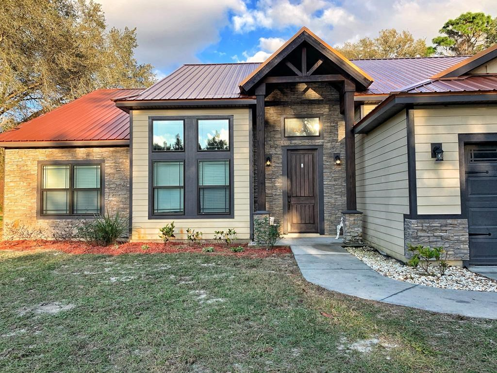 Custom built 4BR/3BA home. Acreage. Trenton, FL, Levy County