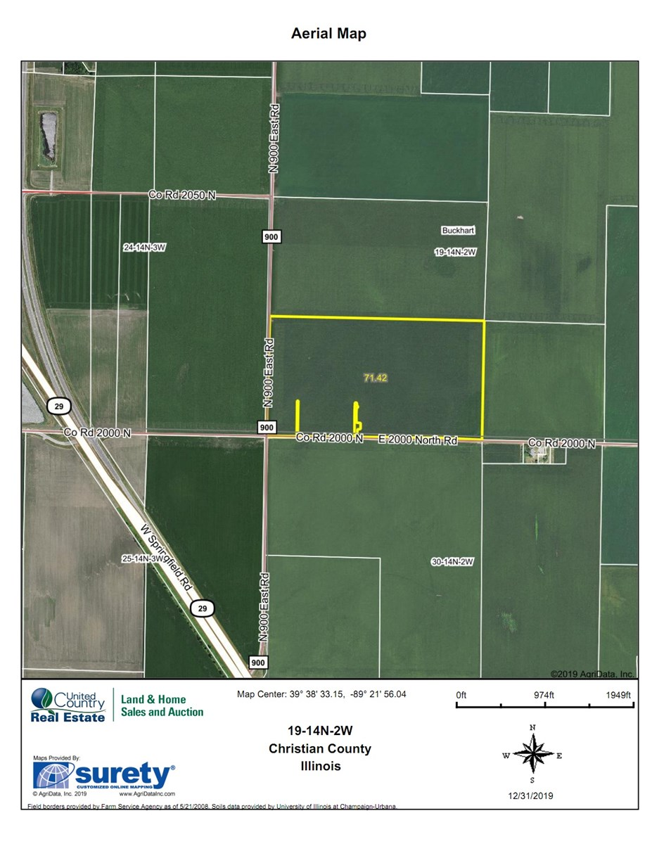 72 Acre Edinburg Christian County Farm For Sale