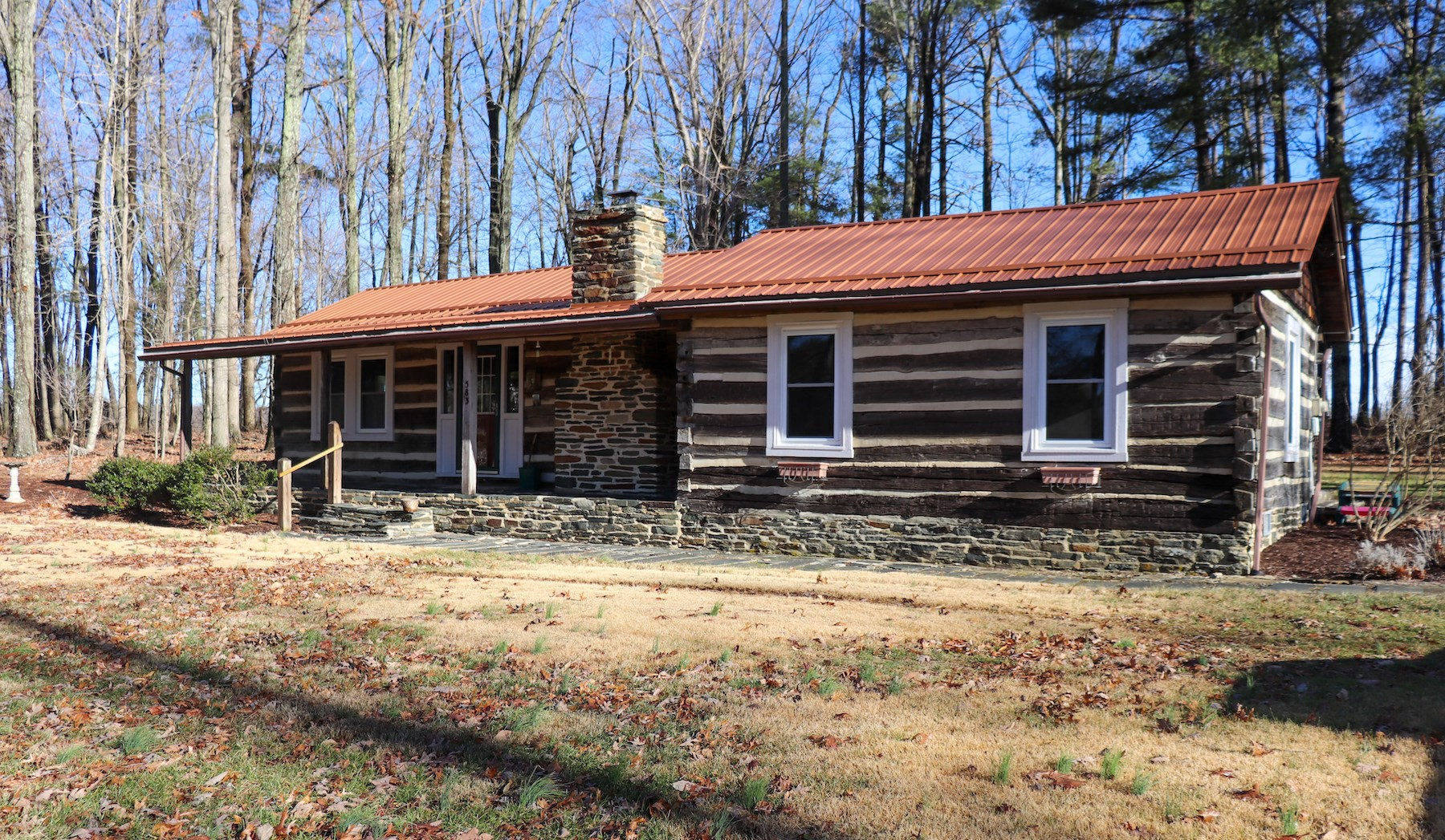 Country Log Home for Sale in Willis VA!