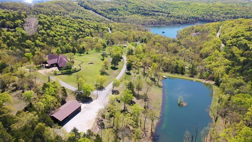 Lakefront Estate on Table Rock Lake with Private Lake