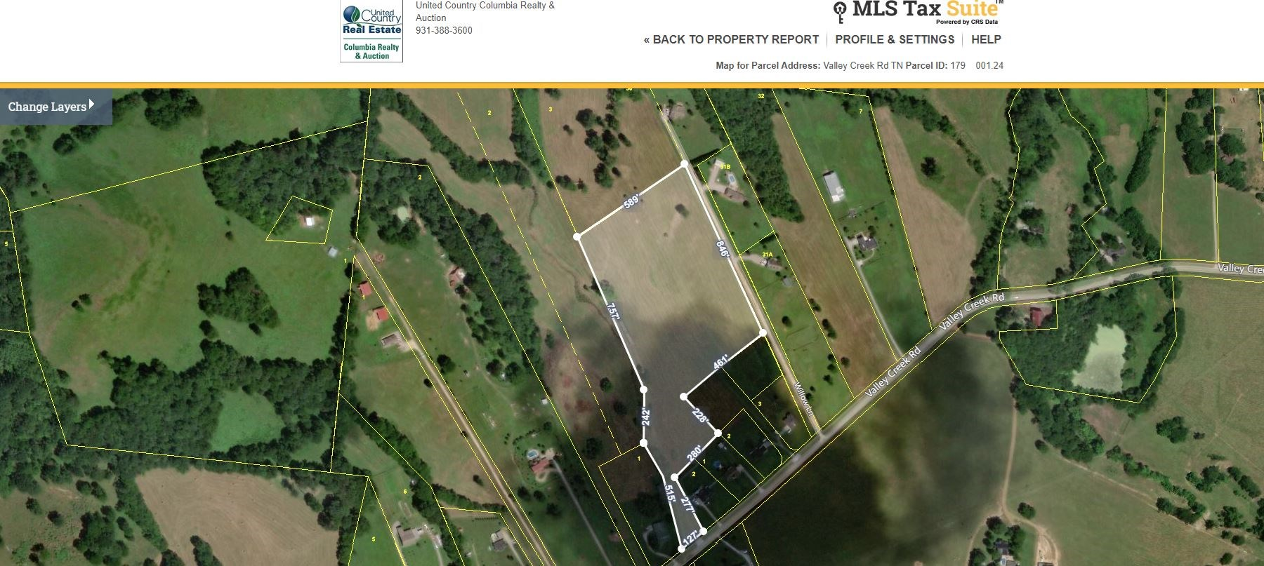 6.20 Acres of Tennessee Land for sale in Culleoka, Tennessee