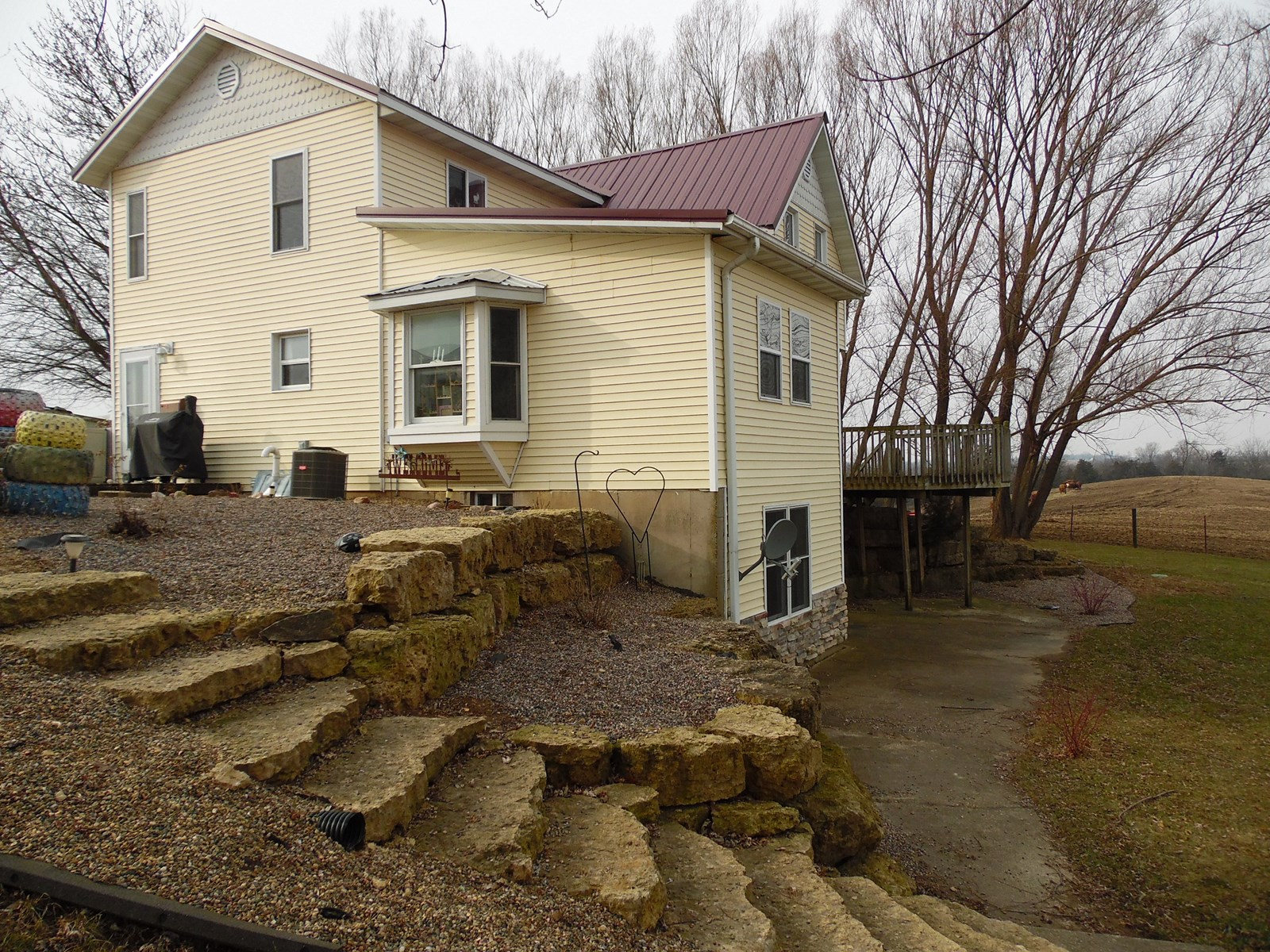 Country Home with Machine Shed for Sale in Galena, IL