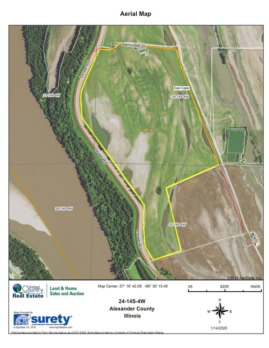 Southern Illinois 188 Acre Farm For Sale