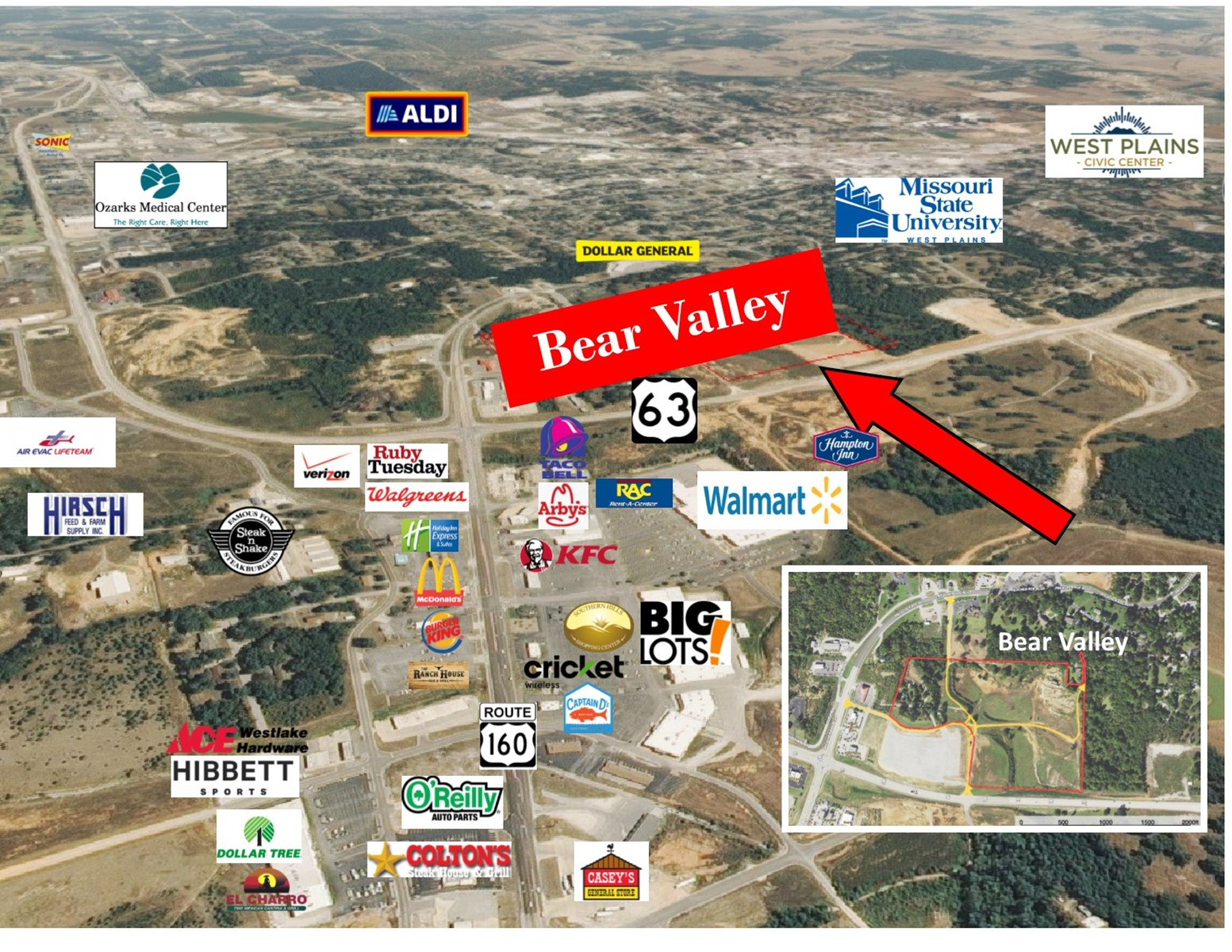 10 Acres Commercial Land - Highway 63 & Hwy 160 Intersection