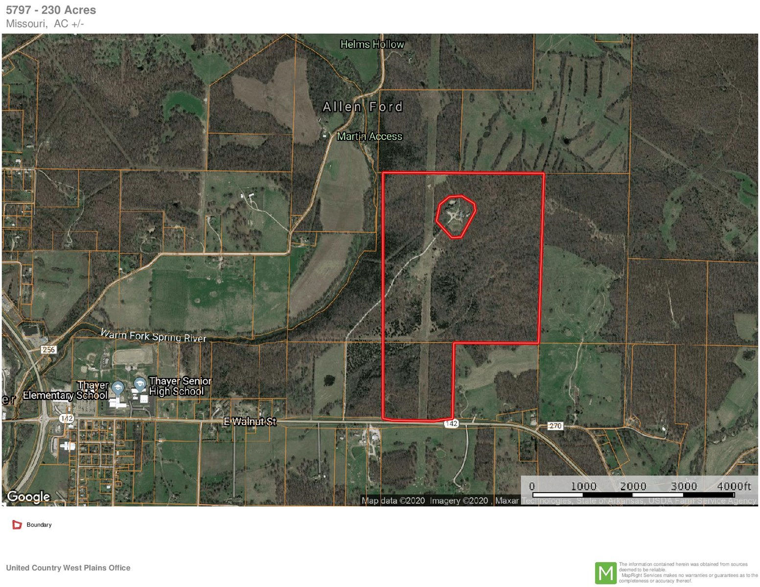 Amazing 230 Acres Near Thayer MO in Heart of the Ozarks