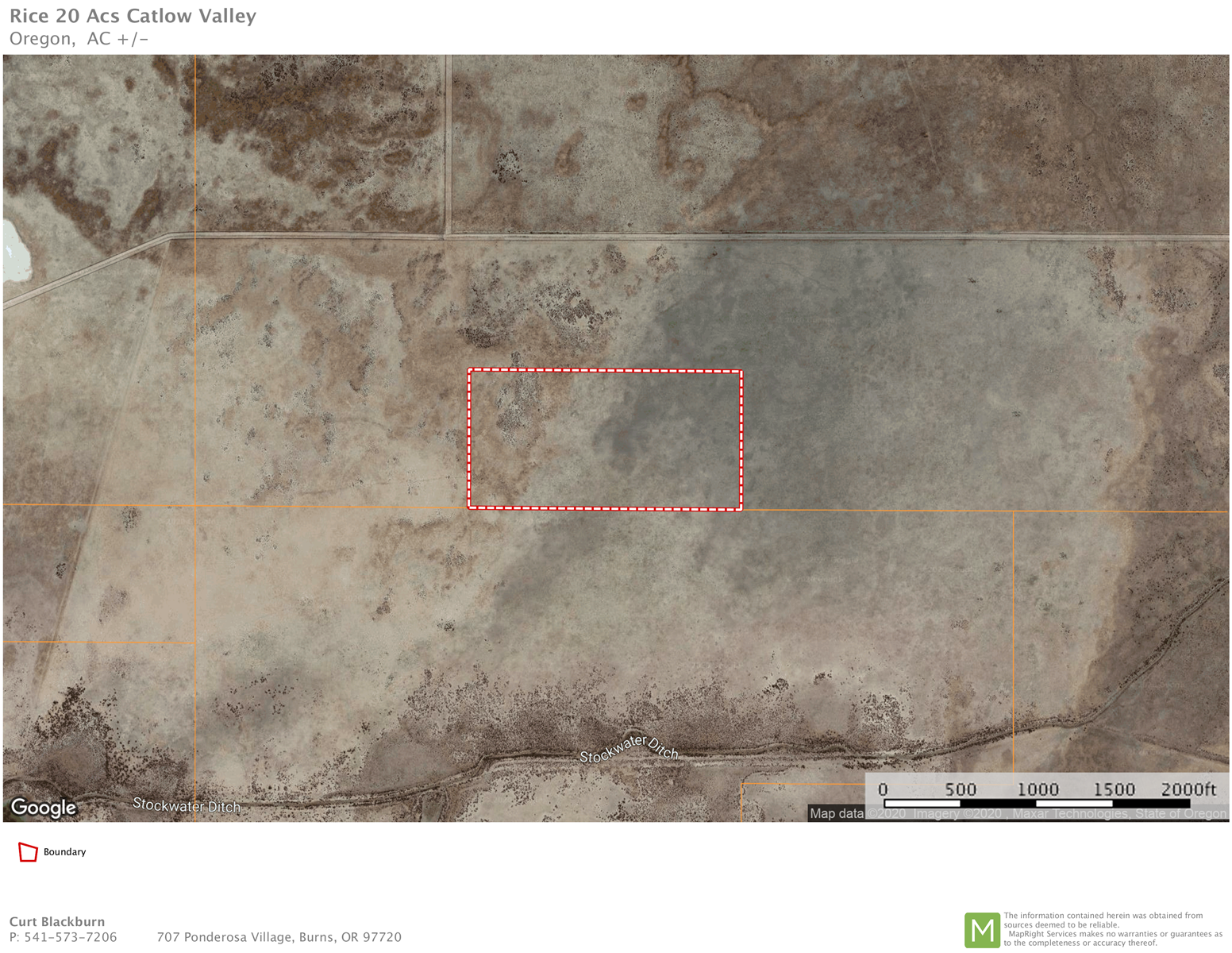 20 ACRES IN CATLOW VALLEY, NEAR FIELDS OR