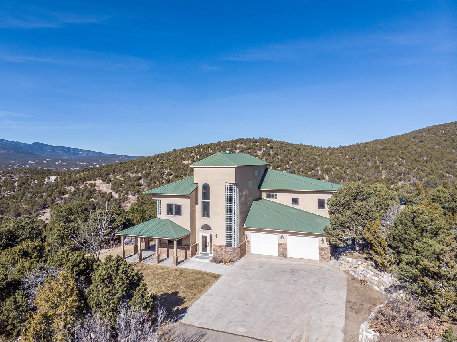 New Mexico Mountain Home On 4.68 Acres For Sale Sandia Park
