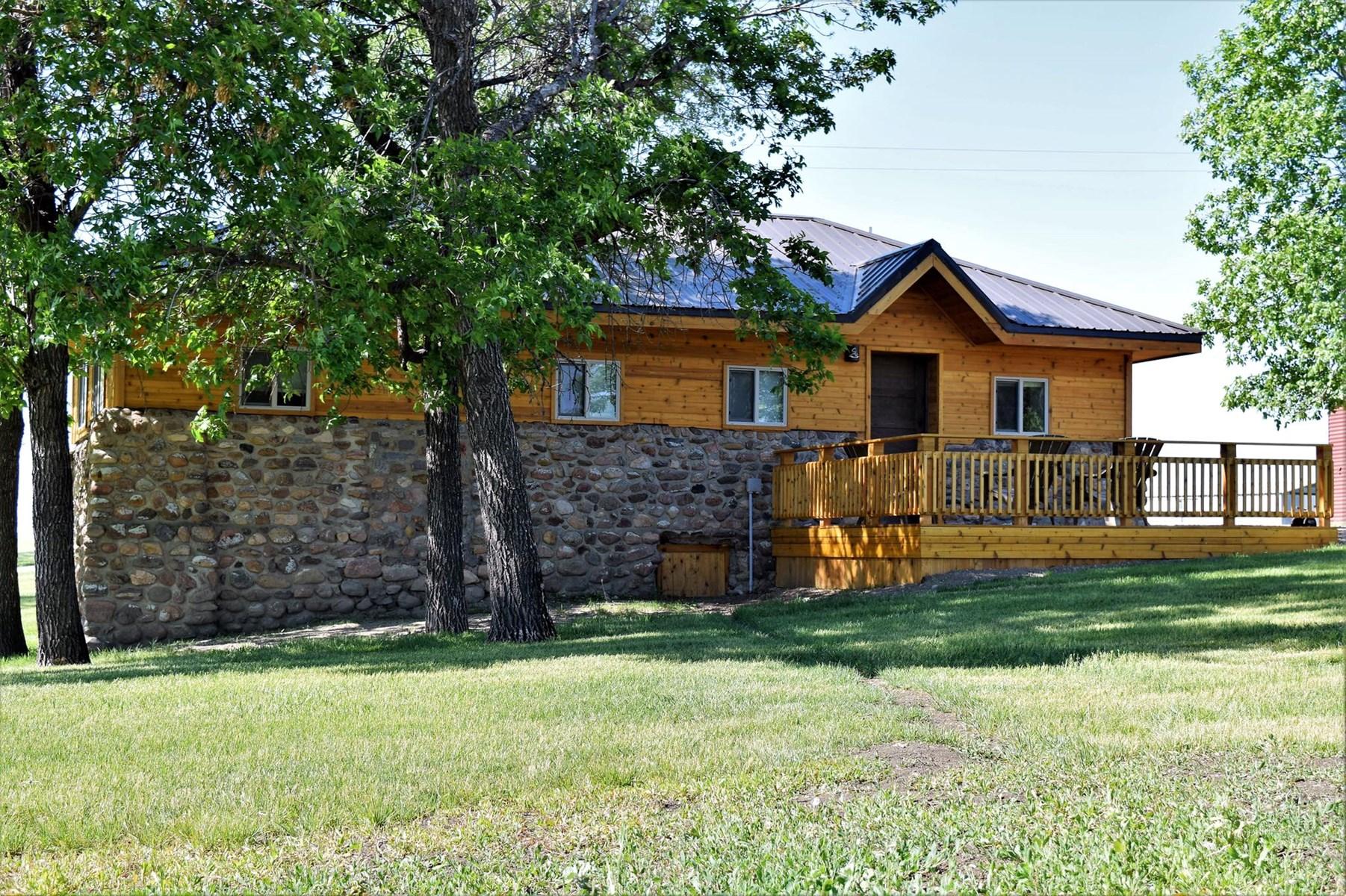 Sleeping Buffalo Resort - Cabin #1 Natural Hot Springs