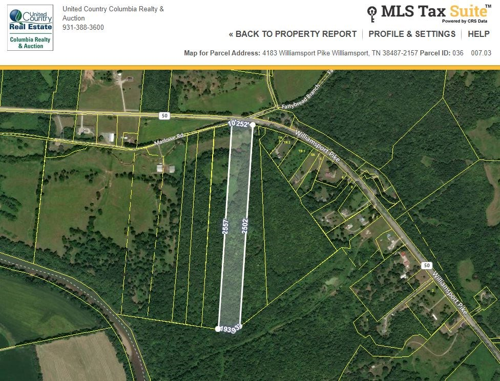15+/- acres with Country Settings in Williamsport Tennessee