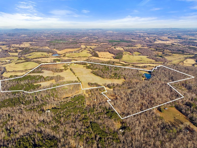 Aerial View of VA Hunting Property for Sale