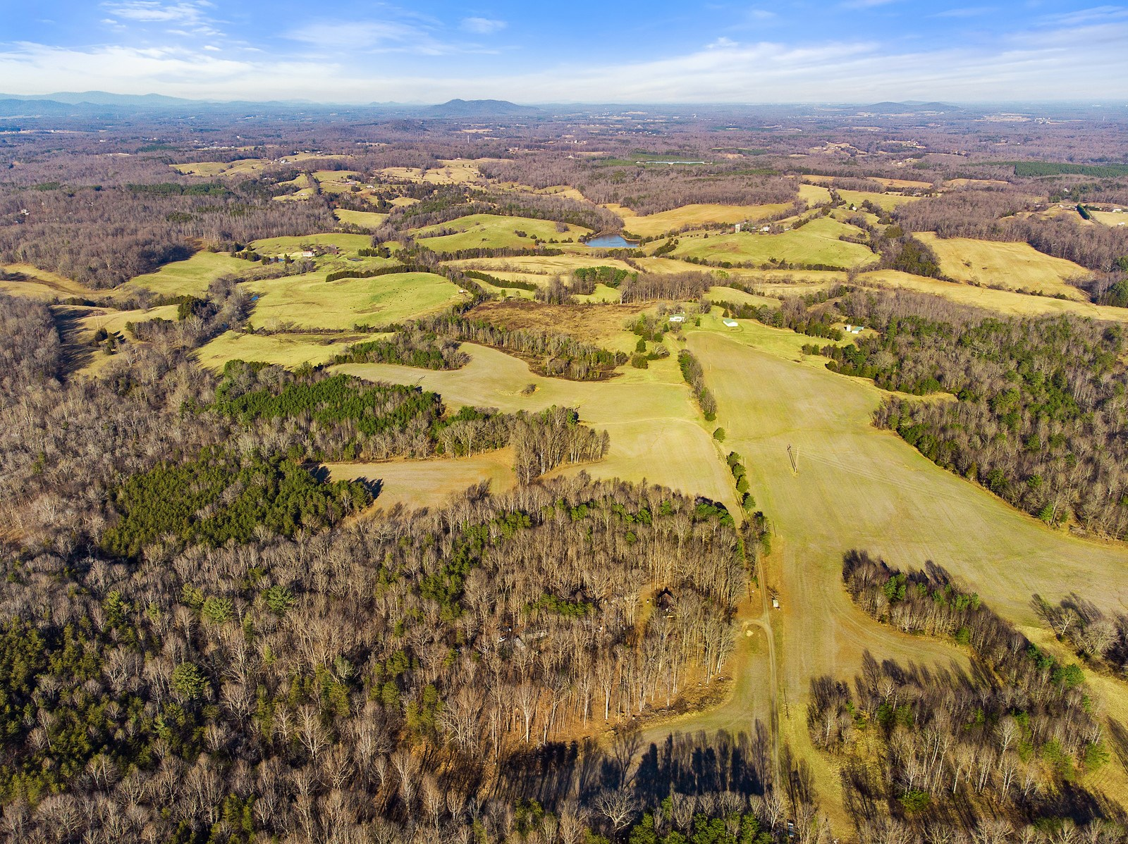 Aerial View of VA Farm for sale