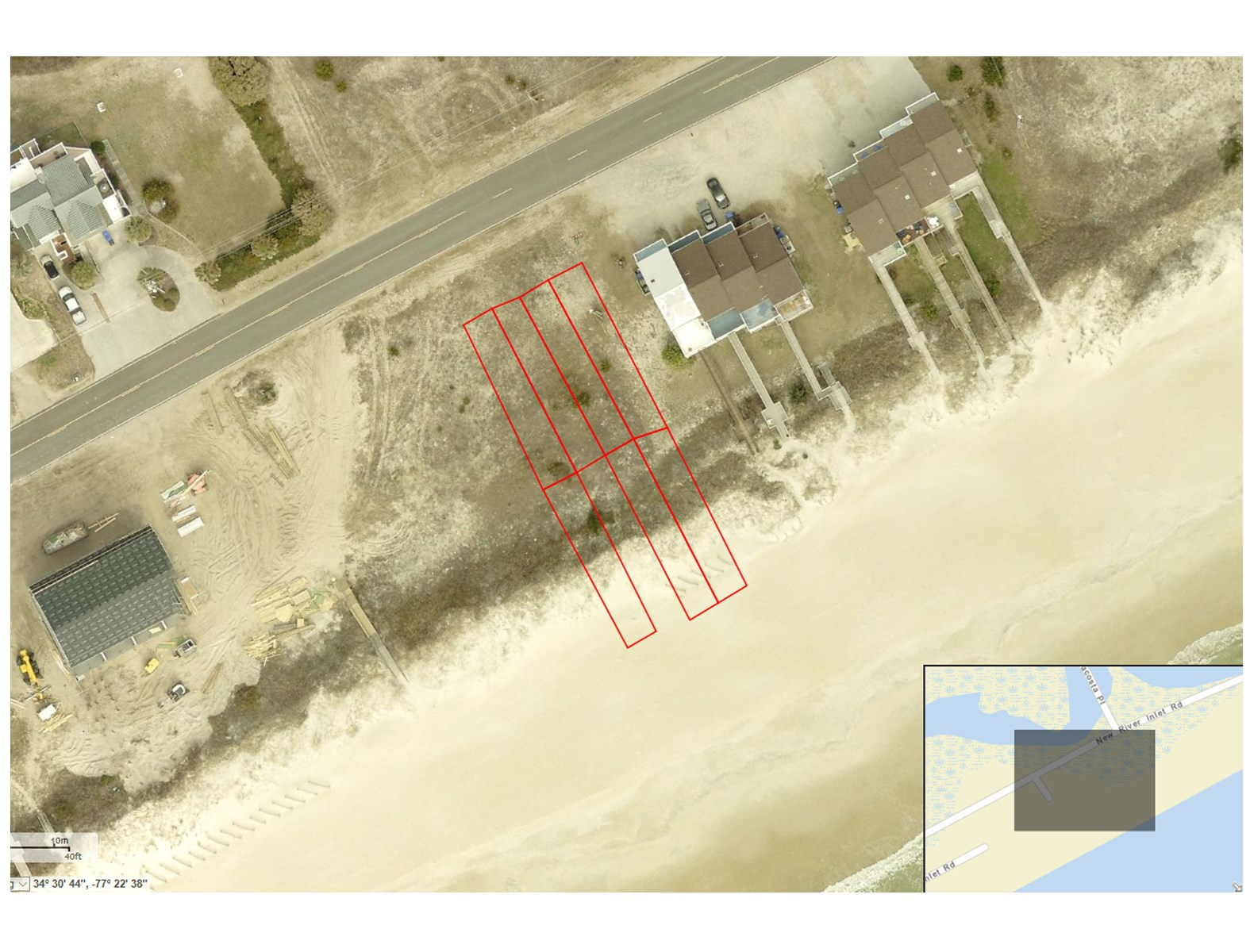 Oceanfront Land on North Topsail Beach to Build On