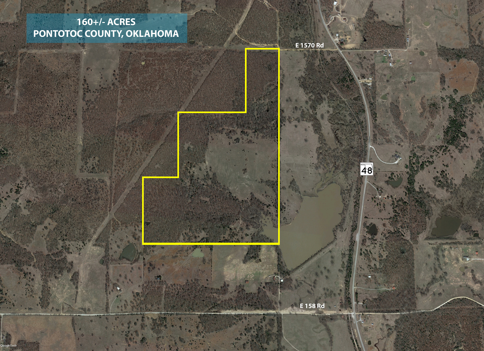 LAND FOR SALE PONTOTOC COUNTY HUNTING PROPERTY OKLAHOMA