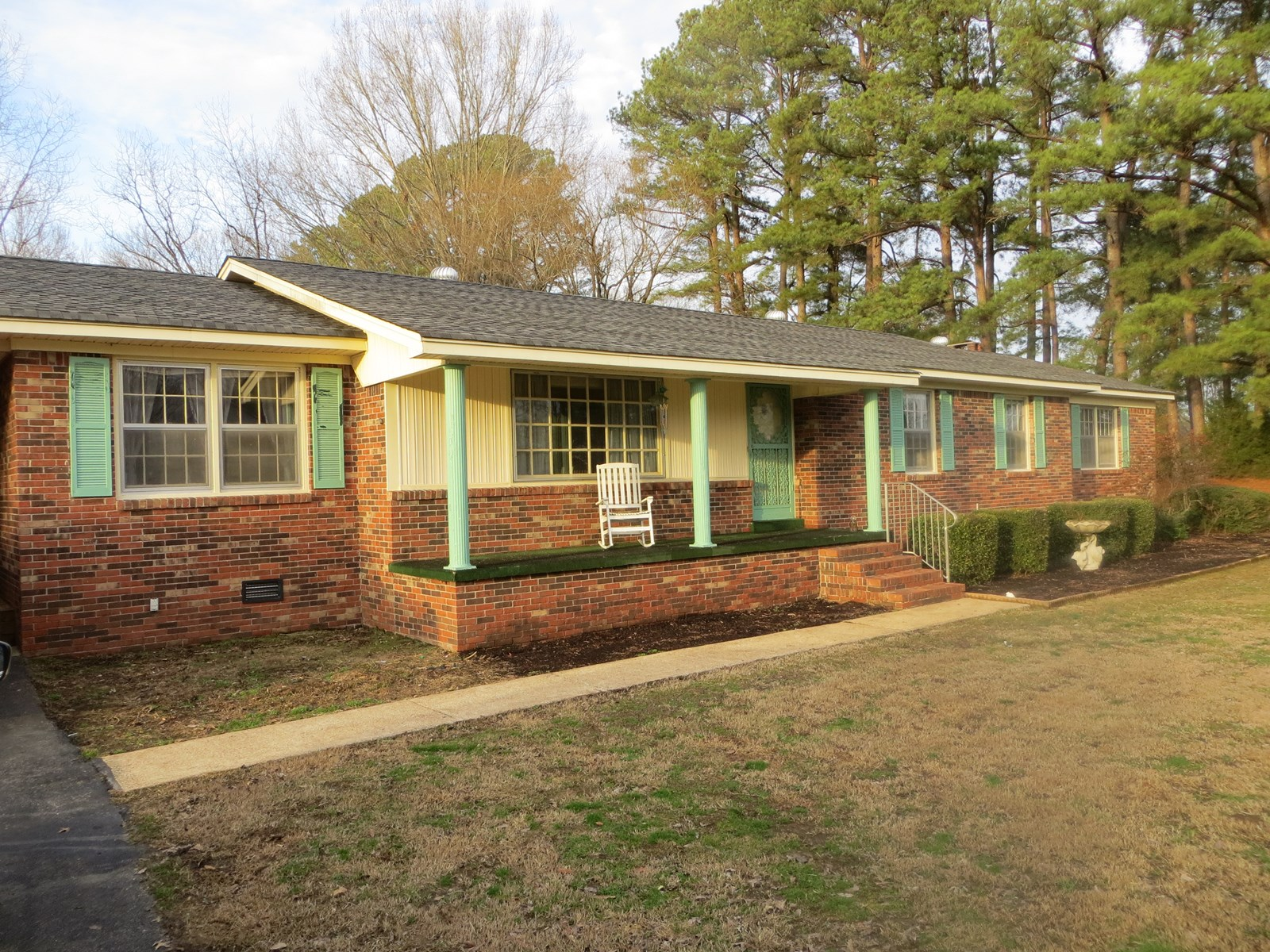 Ranch home for sale in Huntingdon TN, Fireplace, Buildings