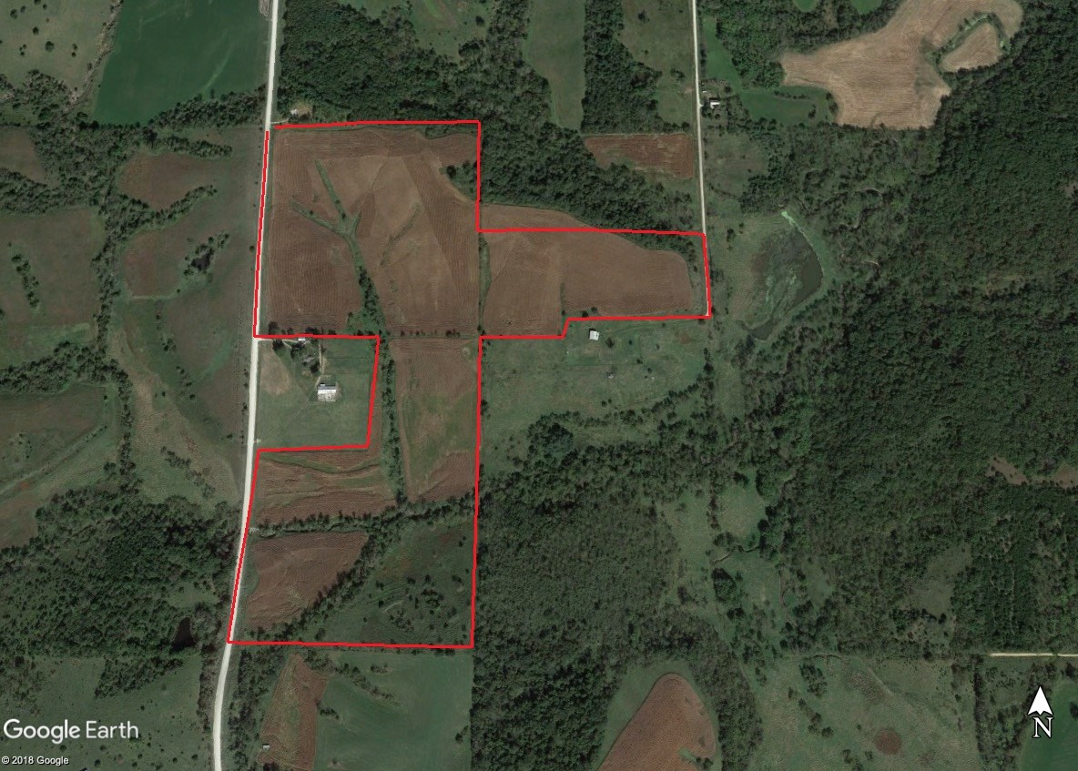 Lucas County 100 acre tillable and hunting online auction