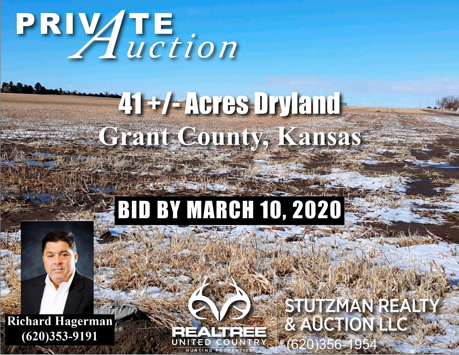GRANT COUNTY ~ ULYSSES, KS ~ 41.8+/- ACRE ~ PRIVATE AUCTION