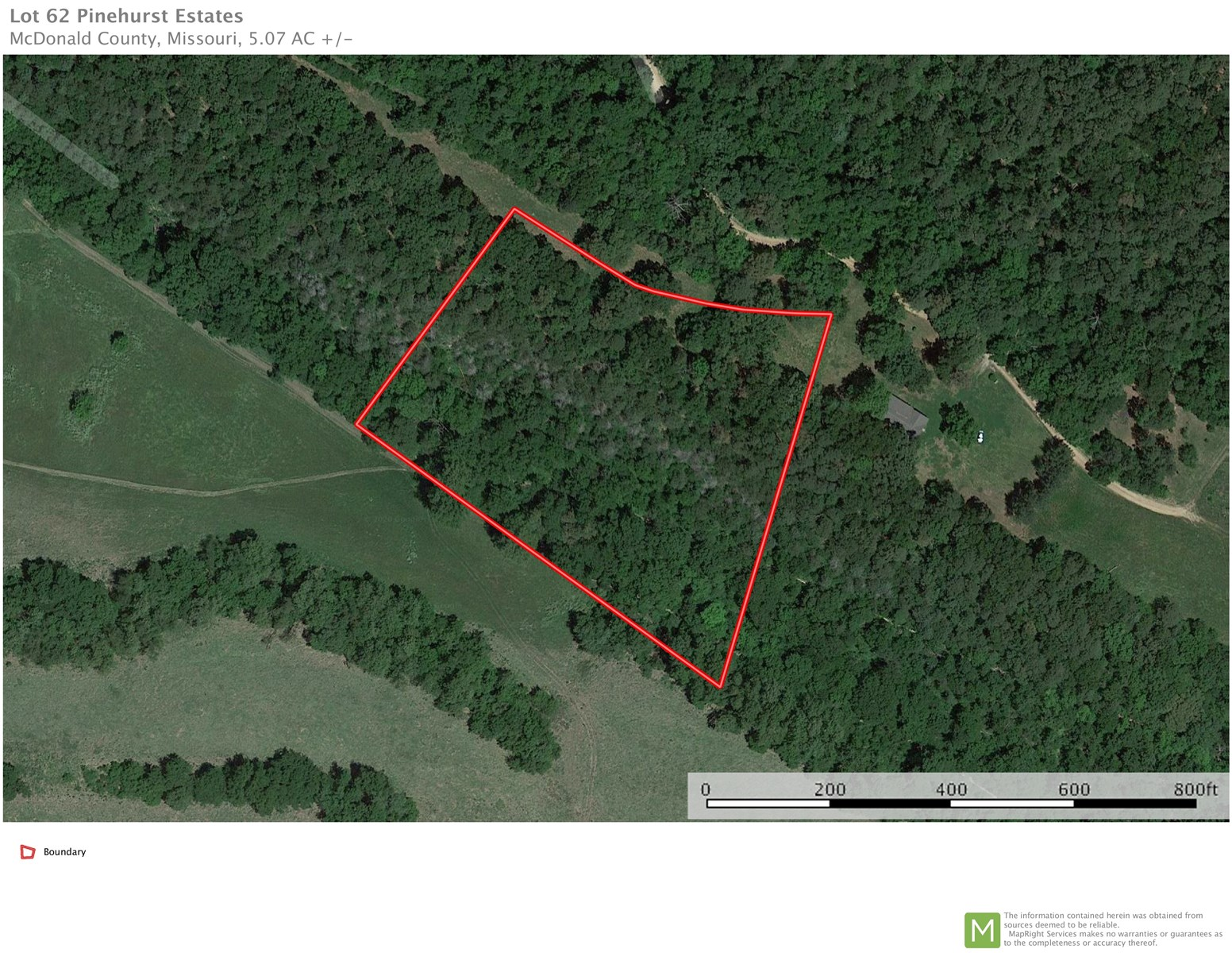5 Acre Estate Lot For Sale in Pineville, MO