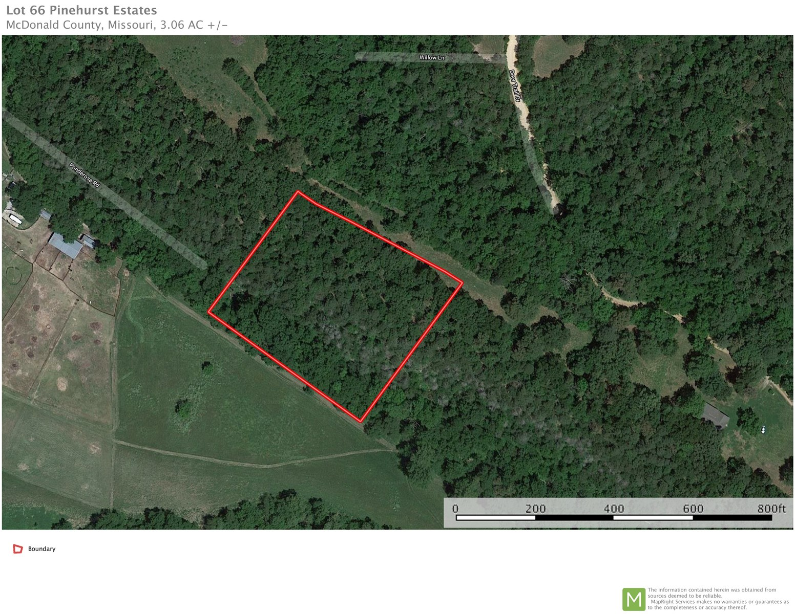 3 Acre Estate Lot for Sale in Pineville, MO