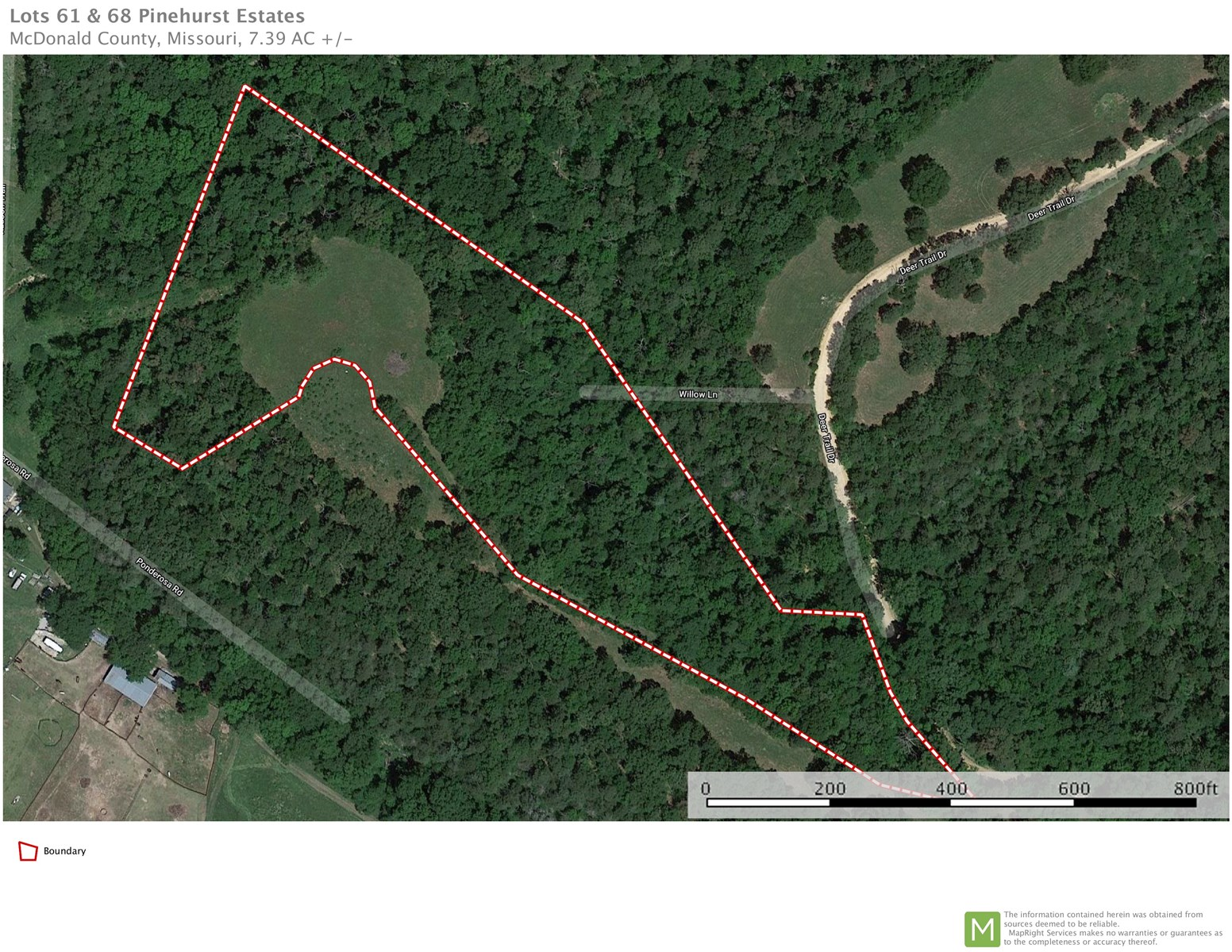 7 Acre Estate Lot For Sale in Pineville, MO