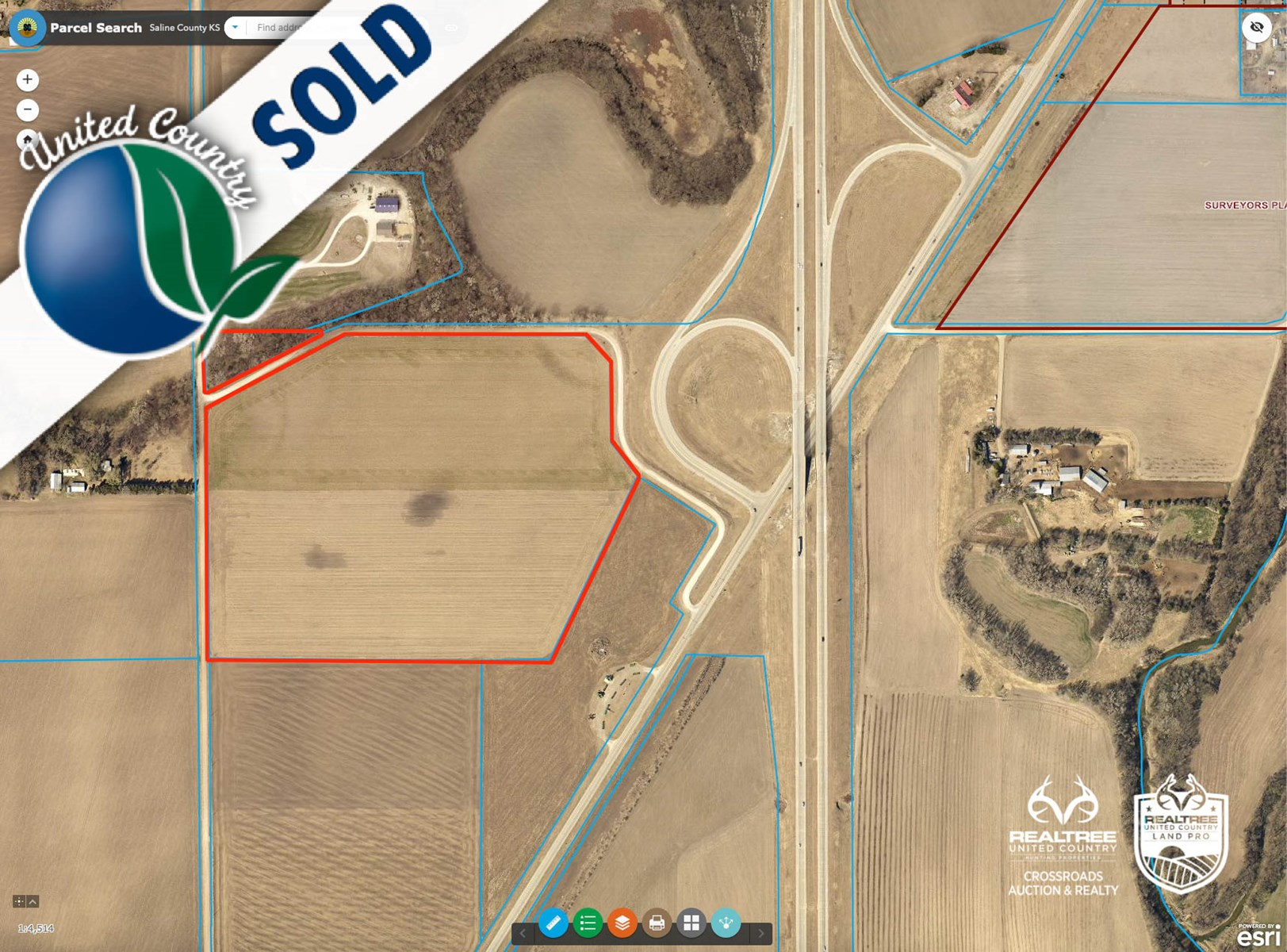 48.1± Acres of Farmland in Southern Saline County, Kansas