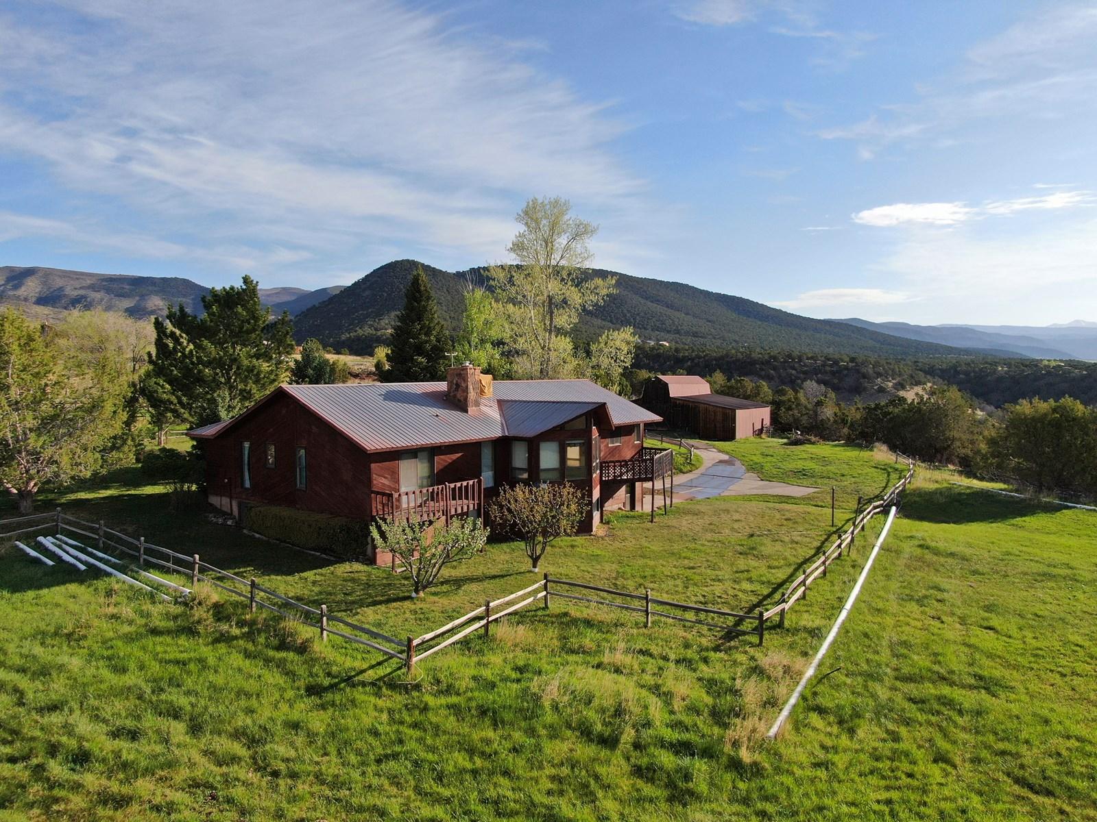 Colorado country home & horse property near Paonia, Colorado