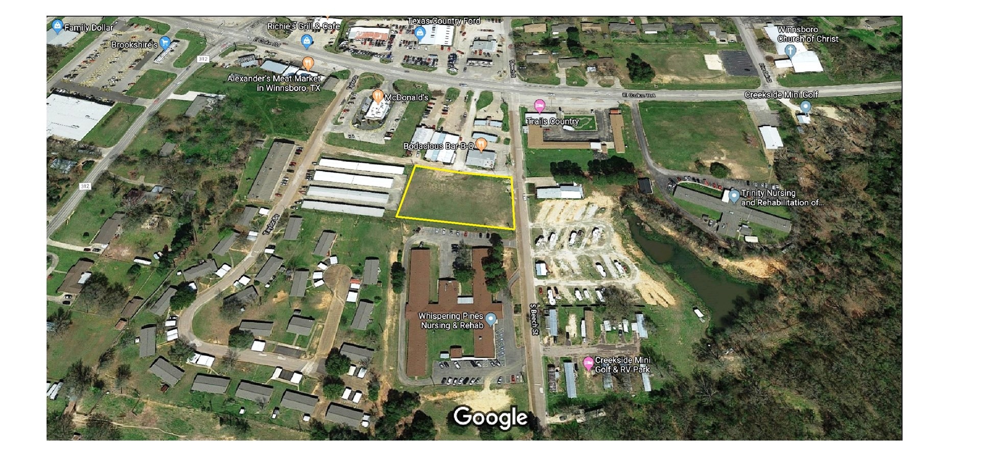 OVER AN ACRE OF COMMERCIAL LAND WINNSBORO,TEXAS WOOD COUNTY