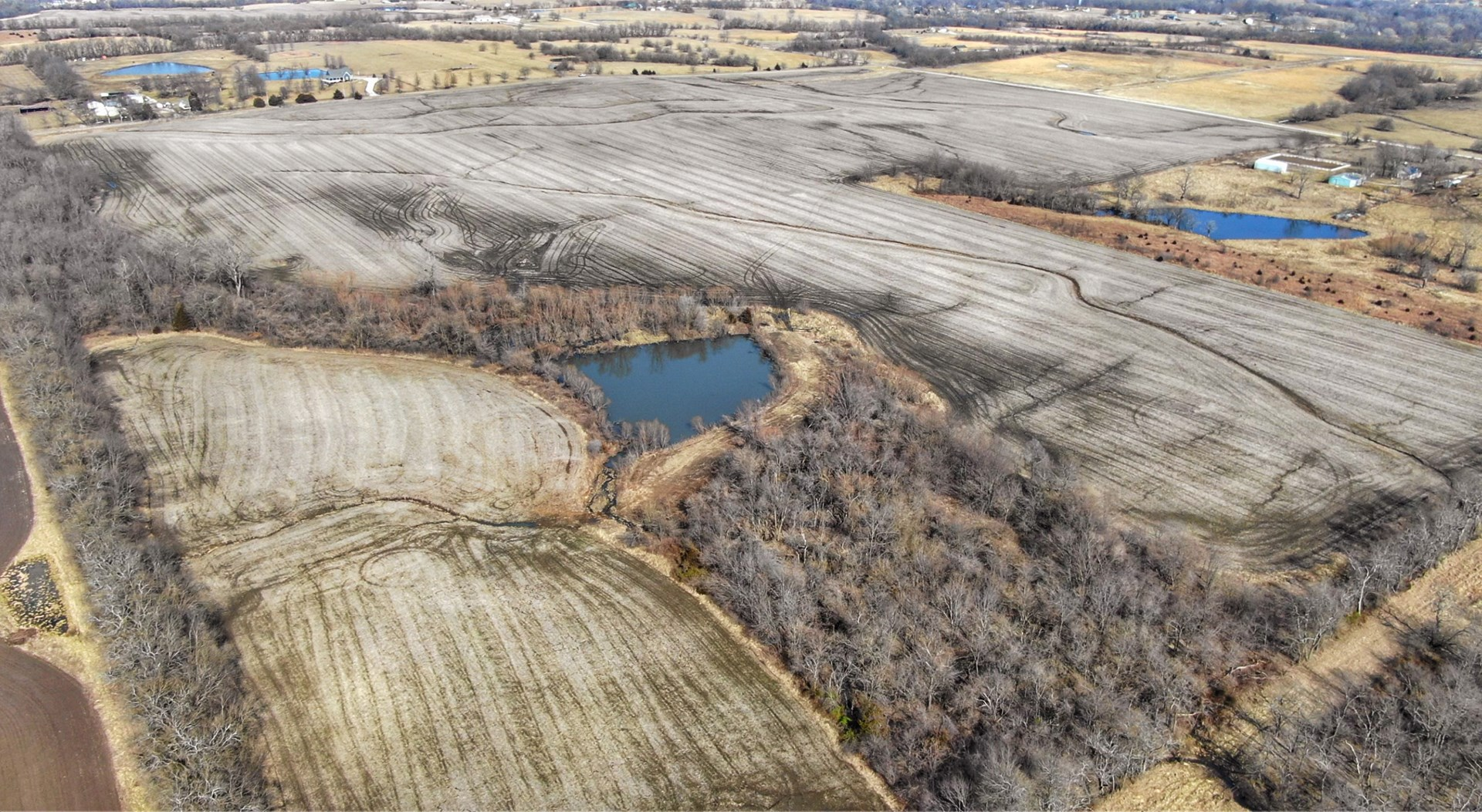 Fertile Kansas Farmland Suitable for Homesite with Pond