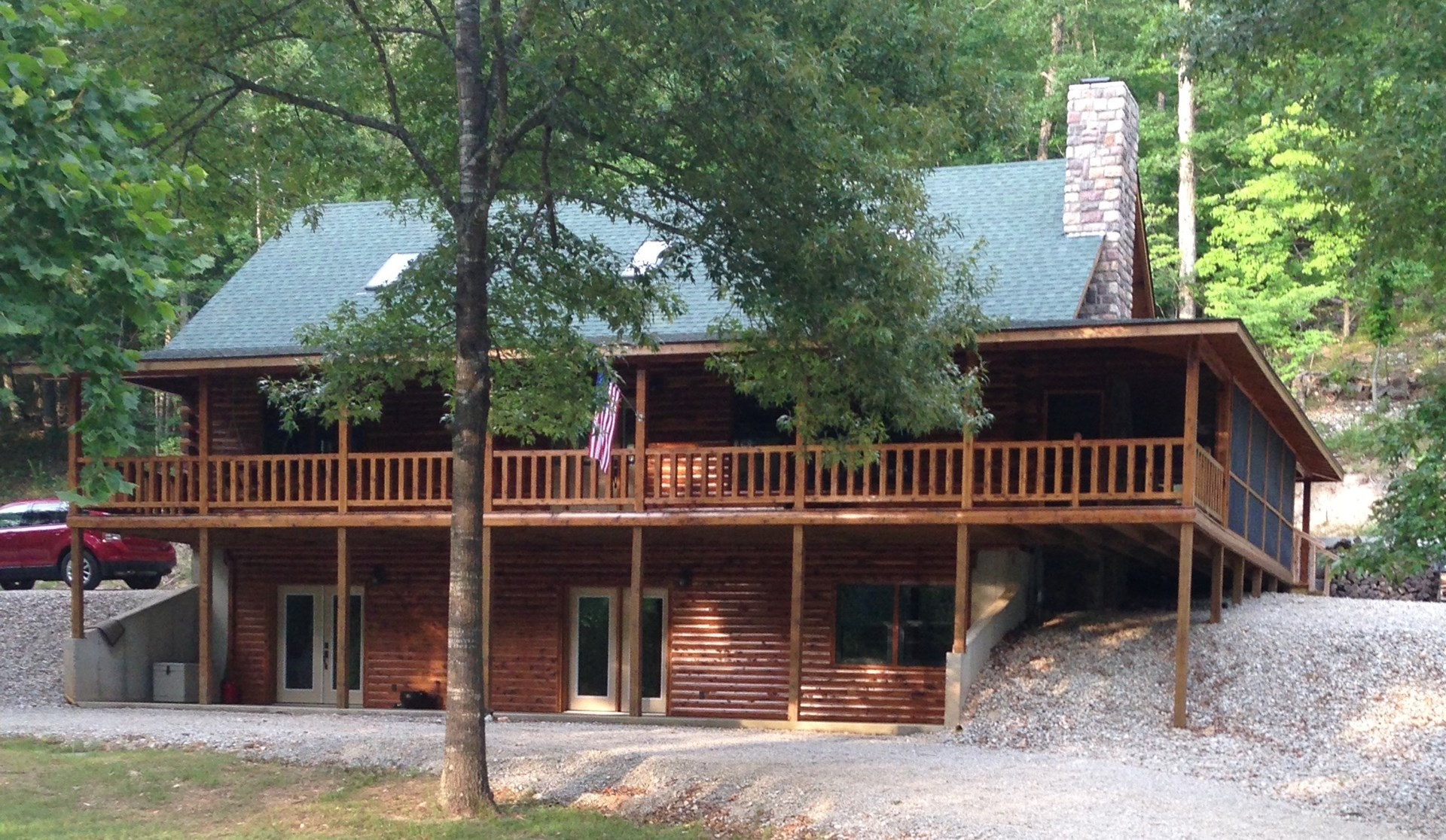 Log Home For Sale with River Access in Missouri Ozarks