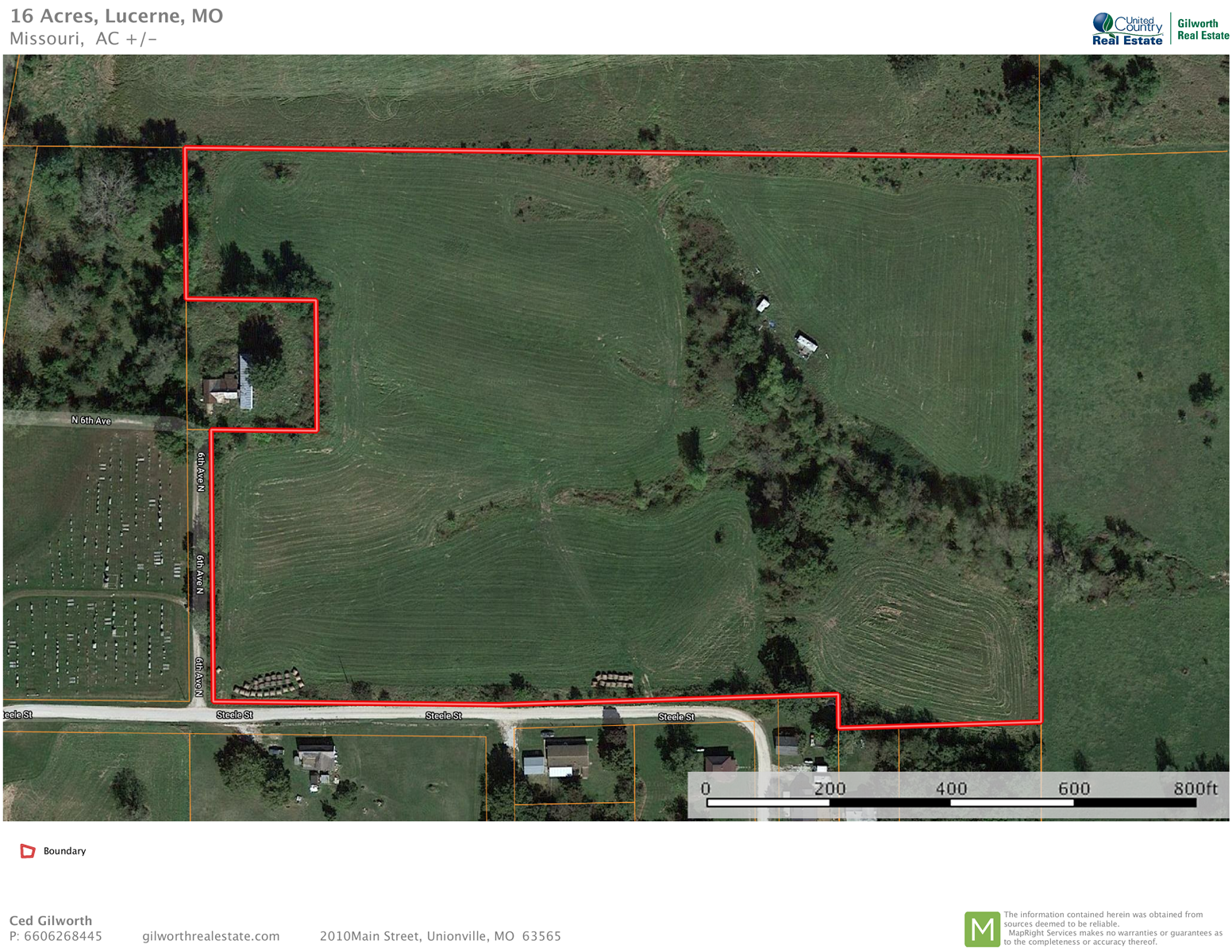 16.2 Acres of Open Hay Ground Located in Lucerne,  MO.