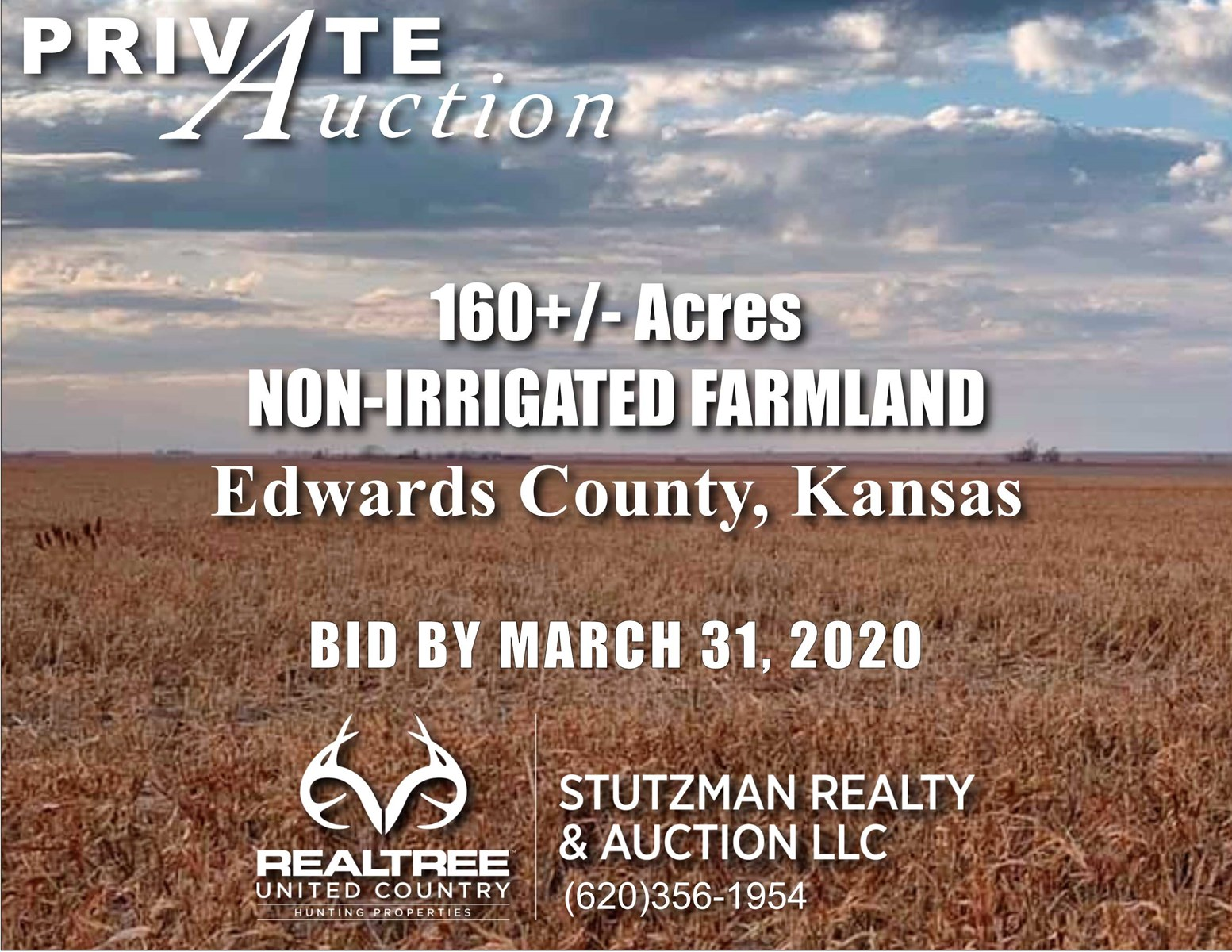 EDWARDS COUNTY KANSAS ~ 160+/- ACRES ~ PRIVATE AUCTION