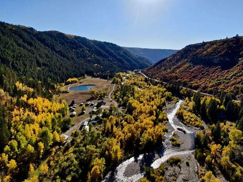 COLORADO RIVERFRONT CAMP & CABINS WITH WATER RIGHTS & VIEWS