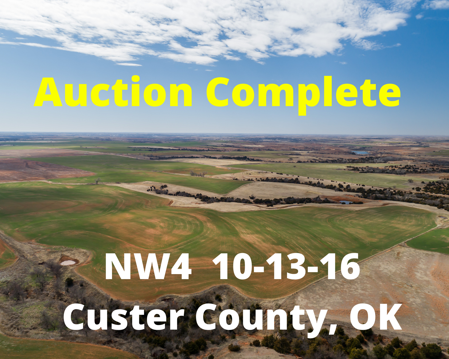 Farm, Ranch & Hunting Land for Sale, Custer County, OK