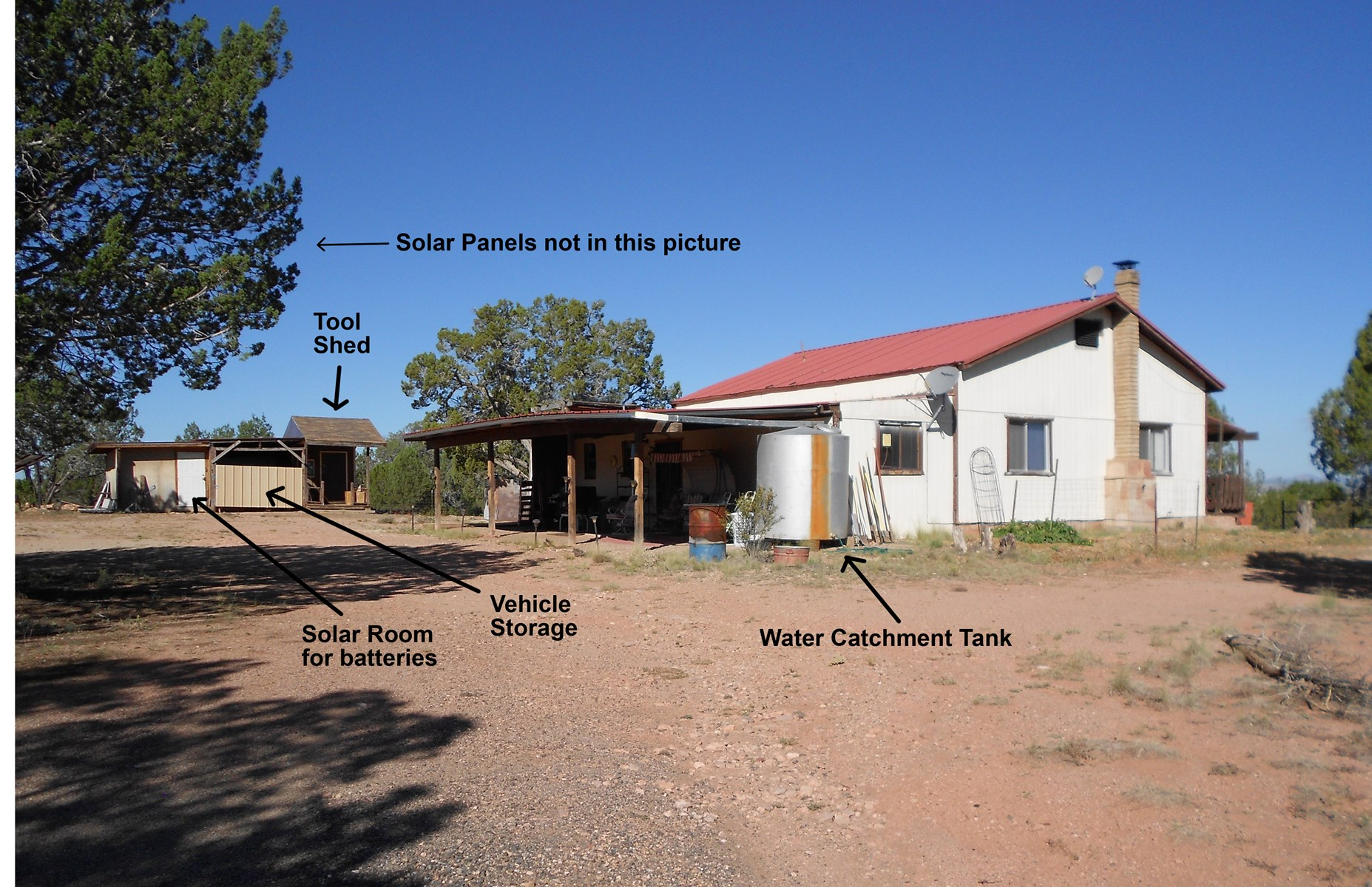 Mountain Home on Fully Fenced Land for sale Ash Fork AZ