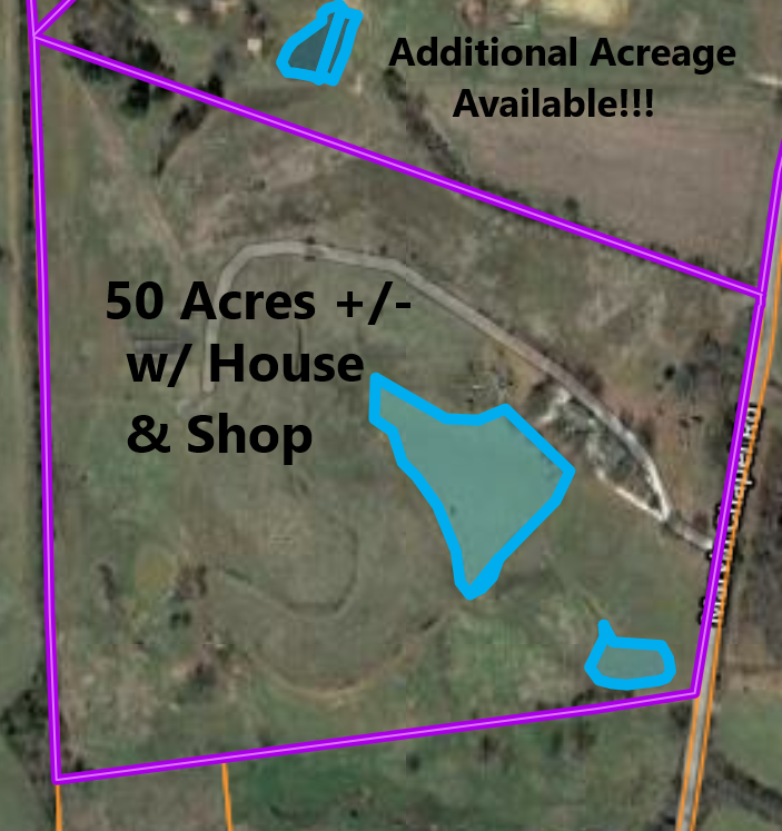 Home & Shop w/ 50 Acres+/-, Brownsville, TN, Haywood County